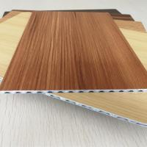 Quality Light Weight Fireproof Wood Grain Aluminium Core Panel , Aluminium Advertising Boards for sale