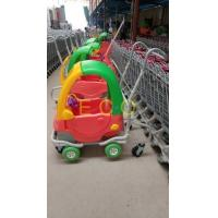 Quality Grocery Plastic Shopping Trolley , Steel Wire Kiddie Trolley Cart With 4 Elevator Wheels for sale