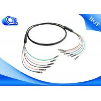 Quality Black  ST Type Tactical Fiber Optic Cable Patch Cord  for Military Application for sale