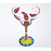 Quality Cocktail Hand Painted Glass , Hand Painted Martini Glasses 480ml for sale