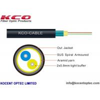 Quality 2 Fiber 4 Core Armored Fiber Optic Cable FTTA 4.8mm Customized ISO9001 Approval for sale