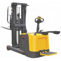 Quality Load Capacity 1.2 Ton Narrow Aisle Lift Trucks , Forwarding Mast Stand Up Reach Forklift for sale