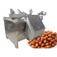 Quality SUS304 Automatic Fryer Machine , Electric Heating Peanut Frying Machine 100-150 Kg / H for sale