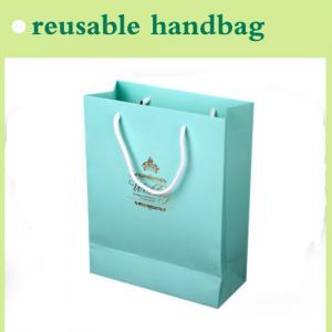 Quality paper handbag reusable for shopping for sale