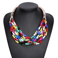 Quality Fashion Multilayered Colorful Beads Necklace and Earrings for sale