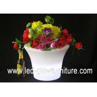 Quality Outdoor Plastic PE illuminated glow in the dark flower pot for family, wedding , party for sale