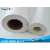 Quality 410Gsm Inkjet Cotton Canvas Roll , 20Mil Inkjet Printable Canvas Good Ink Absorbable for sale