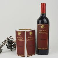 Quality Personalized Printable Wine Bottle Labels Customized Size ISO 9001 Approved for sale
