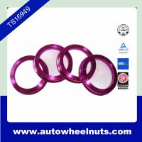 Quality 4pcs Colorful Aluminum Hub Centric Rings With Aluminum / Plastic for sale
