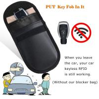 Buy Car Key Signal Blocker Case, Key less Entry Fob Guard Signal Blocking Pouch Bag, at wholesale prices