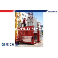 Quality SS100 / 100 Construction lifter Machinery two cage for building material for sale