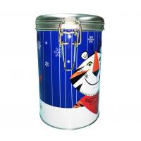 China Metal Clip Sealed Tin Cans , Airtight Tea Tin Container With Airtight Lid on sale