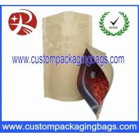 China Brown Aluminum Foil Kraft Paper Coffee Bag And Sealabe Pouch Zip Lock on sale