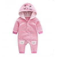 Quality Spring New Style Hooded Infant Baby Rompers Long Sleeve With Lovely Animal Cat for sale