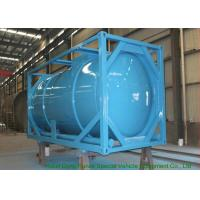 Quality 20 Feet ISO Wast Water Tank Container For Bulk Liquid 20000L Optional PE Lined for sale