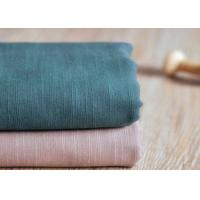 Slub Plain 100 Cotton Canvas / Semi - Bleached Dyeing Cotton Fabric