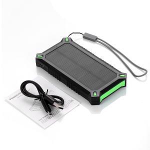 Quality Rectangle Li-polymer Battery Solar Power Bank 8000mAh for Travel Backup Emergency for sale