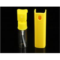 Quality Yellow 20ml Perfume Pump Sprayer , Mini Plastic Spray Bottle With Plastic Shell for sale