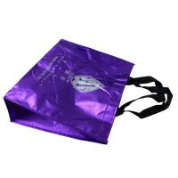 Shining Non Woven Carry Bags Reusable With Screen Printing Logo tape Handle