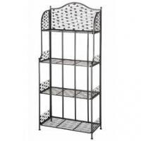 Quality Supermarket Double layer Fruit and Vegetable Metal Display Racks Shelf for sale
