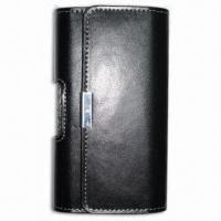 Quality Leather Pouch for Smartphone, with Bright Leather Cover, Ideal for Horizontal Use for sale