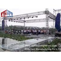 Quality Wedding Party Aluminum Stage Truss , Global Aluminum Square Truss Electronic Hoist for sale