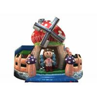 Quality Durable Inflatable Bounce House Beautiful Inflatable mushroom bouncer inflatable farm jumping with fence around for sale