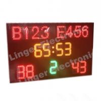 Quality 1240mm X 1900mm X 100mm Led Football Scoreboard / Soccer Score Board With Led Team Name for sale