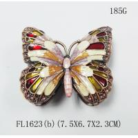 Cute butterfly shape custom portable nice hot sale jewelry box