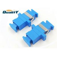 Quality Ftth SC UPC APC Duplex Fiber Optic Adapter Ceramic Sleeve Compact Design for sale