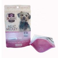 Quality 250g Custom printed Plastic Dog Pet Food Packaging Bag with Zipper and window for sale