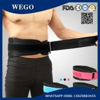 Quality WG-FS074 Weight Lifting Belt Gym Back Support Fitness Training Belts 6.69 Inch Wide Black for sale