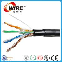 Quality waterproof cat5e outdoor solid bare copper 24 awg bulk wire ethernet cable for sale