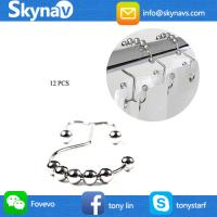 801HD001 Skynavo Stainless Steel Metal Double Glide Shower Curtain Rings Rust