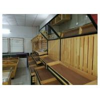 Buy SGS Supermarket Wooden Display Rack Single - Sided Electrostatic Spray Surface at wholesale prices