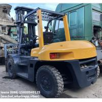 Quality used 7ton tcm 3stages diesel forklift FD70Z8 originally made in japan,low working hrs ,6m lifting height for sale