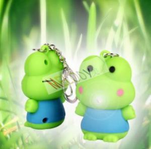 China Frog LED sound keychain light With 1 white led light  on sale