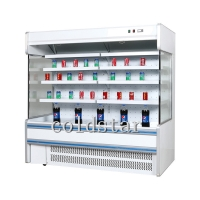 Quality Commercial supermarket multi-deck open display chiller for sale