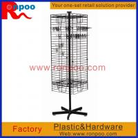 China Wire Store Display Racks,Counter Top Spinner Display Rack,Rotating Display Rack with Pegs,Grocery Food Rack on sale