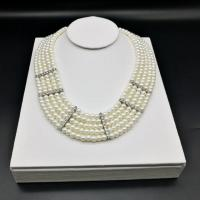 White Leather Necklace Bust Display Stand Eco Friendly Delicated Arts For Ladies
