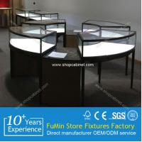 China 2015 New design Acrylic Jewelry Display Case LED Lights rotating jewelry display cabinets on sale