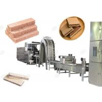 Quality Gas Heating Wafer Biscuit Production Line , Wafer Snack Biscuits Making Machine 110 Kg / H for sale