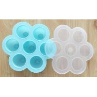 Quality Silicone Egg Bites with PP Lid, For Baby Food Storage Container Molds for sale