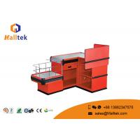 Quality Shopping Mall Cash Register Display Counter Bright Color For Restaurant for sale