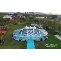 China Transparent Aluminum Alloy Frame Large Event Canopy , Outdoor  Wedding Party With Roof Lining on sale