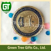 Quality Soft enamel shiny gold plating challenge coin with custom design for sale