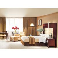 Buy cheap Hotel Style Bedroom Furniture Beige Leather Chair With Ottoman Sets from Wholesalers