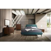 Fabric Upholstered Bed Modern Bedroom Furniture Sets With Wooden Legs