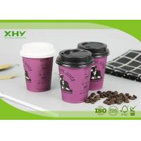 Quality 200ml 6oz Disposable Take Away Single Wall Coffee Paper Cups with Lids for sale