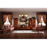 China Full solid wood home living room furniture set tv unit stand wine display caibinet LM02 on sale